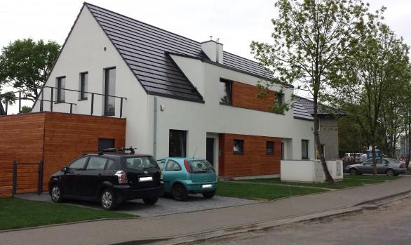 Budowa budynku jednorodzinnego w zabudowie bliźniaczej przy ul. Krotoszyńskiej we Wrocławiu